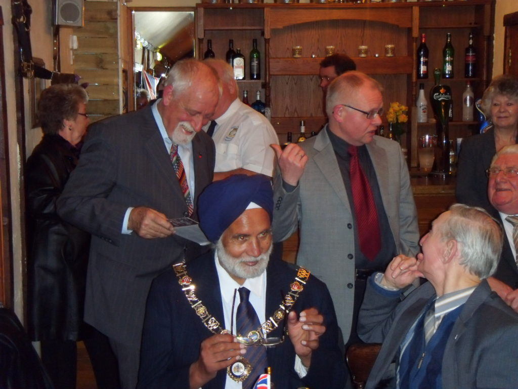 Mayor of Barking & Dagenham Councillor Singh with Len Colins, Klaus Lohmann and Werner Weis