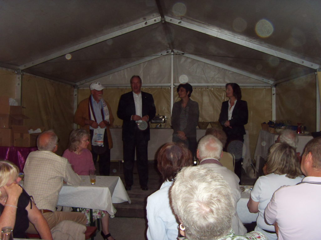 Singing Contest between the 2 Clubs, judged by Rolf Ostermann